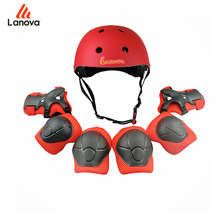 LANOVA 7pcs/Set Kids Protector Skateboard Helmet Knee Elbow Pads Wristguard Protection for Scooter Cycling Roller Skating