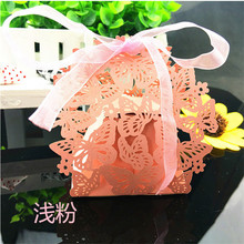 50pc Gift Box Romantic Butterfly Laser Cut Wedding Gifts for Guest Baby Shower Wedding Decoration Party Candy Box Sweet Gift Box(China)