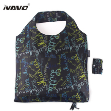 NAVO folding shopping bag 45x65cm large big shopper resuable shopping grocery bag for supermarket sac shopping reutilisable(China)