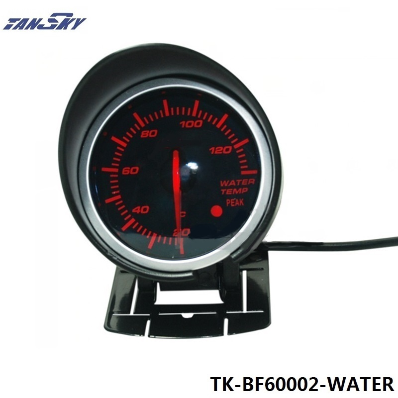 TANSKY -Auto Car Motor HQ 60mm DF BF Water Temp Gauge Meter Red and White Light For Ford Mustang 86-93 TK-BF60002-WATER