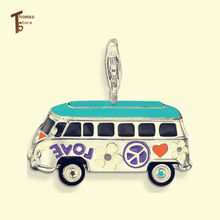PT1569 VW Bus Pendant Thomas Style Glam And Soul Fashion Jewerly For Women In silver-plated