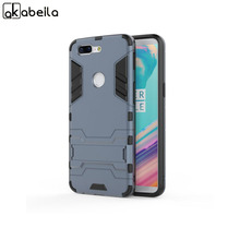 AKABEILA Kickstand Case For OnePlus 5T Case Anti-knock For one plus 5t 6.01 inch Cases Plastic TPU Back Cover Coque Housing(China)