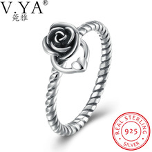 V.Ya Fine 925 Sterling Silver Jewelry Rings for Women New Collection Authentic Mystic Floral Flower Stackable CZ  Bijoux Jewelry