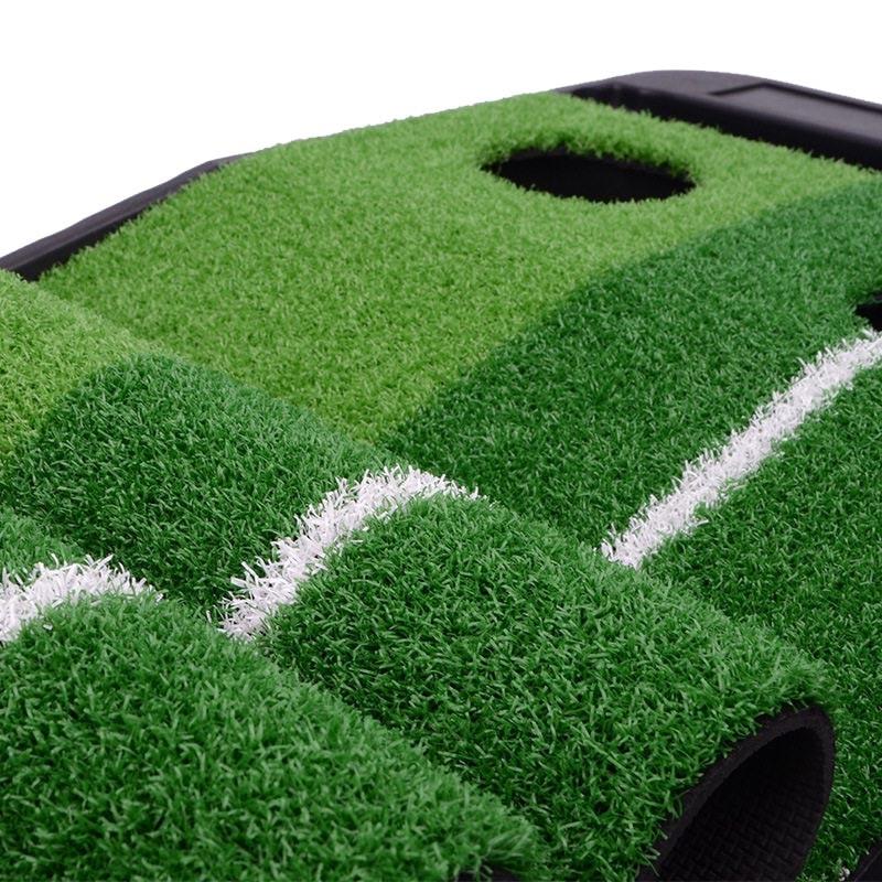 PGM indoor Golf Putter Practice Set Putting Green Trainer Green Mat Automatic Return Fairways Equipment Golf Training Aids (4)