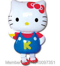 10pcs/Lot, Free Shipping, Hello Kitty  Pet Walking Animals Balloons  Helium Mylar Balloons, Baby's toy, Party Decoration. Blue.