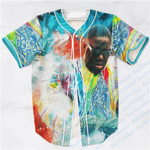 2 Colors Real AMERICAN USA Size Notorious BIG Custom made Fashion 3D Sublimation Print  Baseball Jersey Plus Size
