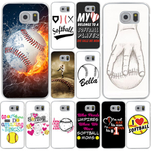 Fire Yellow Softball baseball And Water Fashion Hard Case Cover for Samsung Galaxy S8 Plus S3 S4 S5 & Mini S7 Edge S6 Edge Plus