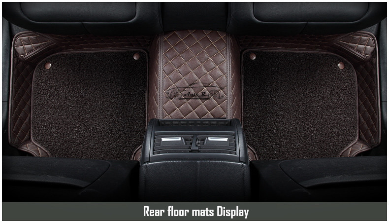 double layer coil leather car floor mats 9