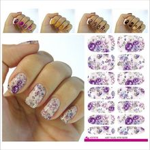 2017 Direct Selling Real Fashion Nail Art Sticker Full Cover Water Transfer Foil Stencils For Tools Stickers Wholesale V629