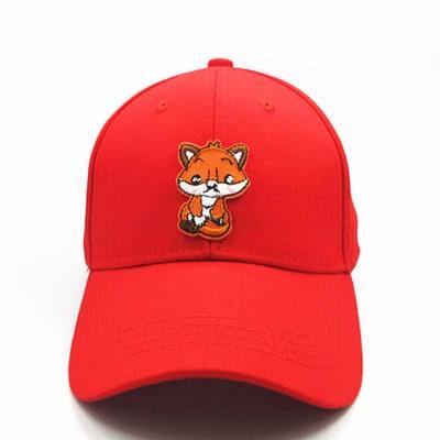 0635b48da42 LDSLYJR 2018 Small Fox Embroidery Cotton Baseball Cap Hip Hop Cap ...