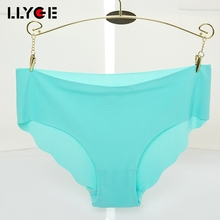 Buy LLYGE Hot Sale Fashion Women Seamless Ultra-thin Underwear 2018 G String Women's Soft Panties Intimates Briefs Drop Shipping