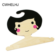 Nordic Wooden Girl Clothing Hooks Children's clothing store Decoration Photography props Kids Room Decorative Clothes Hanger(China)