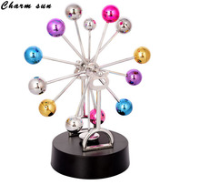 Creative Colorful Ferris Wheel Electromagnetic Pendulum Yongju Instrument Crafts Model Office Decoration