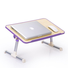 ZJ Notebook comter used on bed dormitory learning desk simple small lazy table cooling household folding(China)