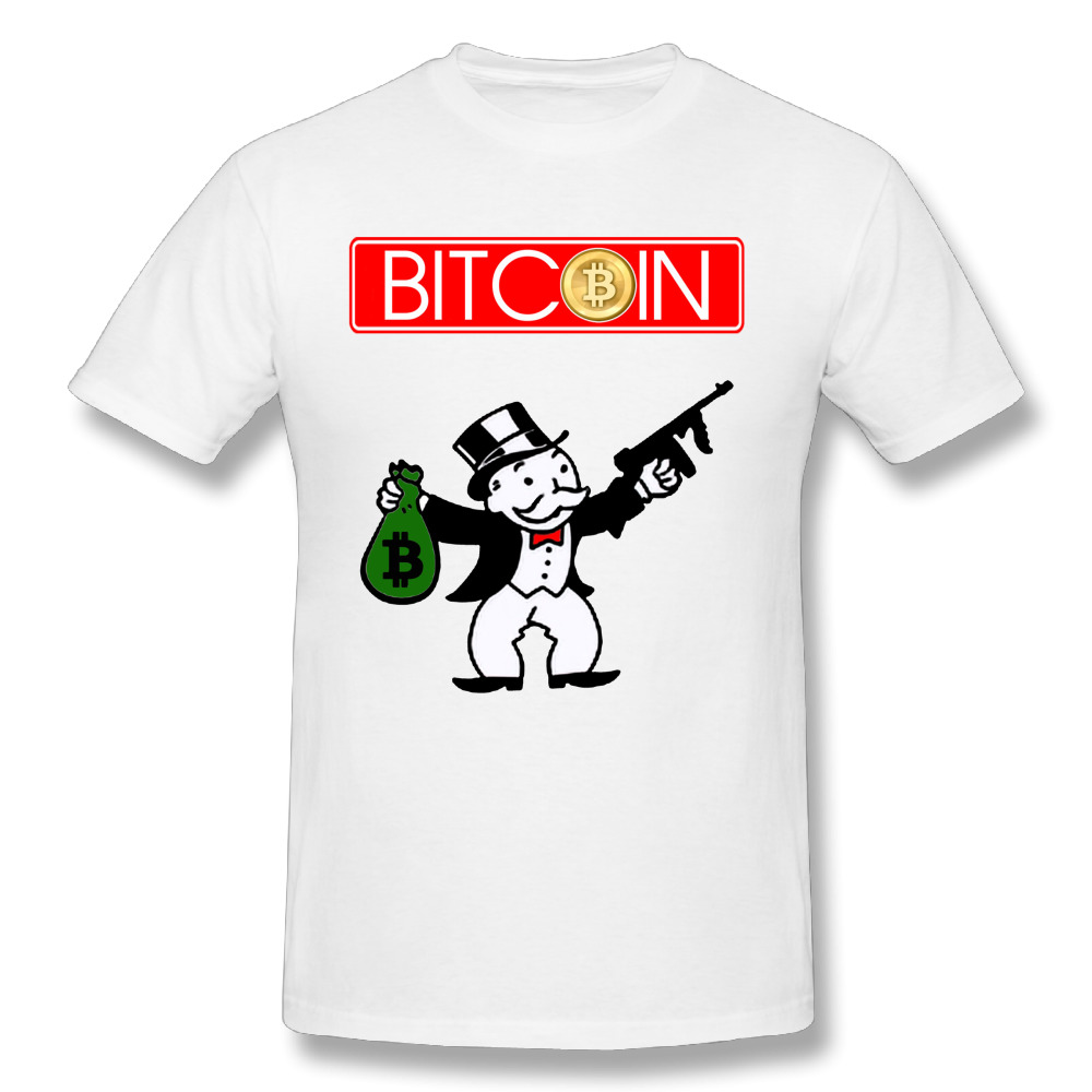 Men's Bitcoin T-shirt Custom Cotton Tees Top design 2018 New Arrival Camiseta Popular T shirt