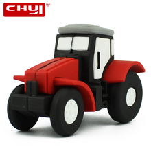 Creative USB 2.0 Flash Drive 32GB Pendrive Red Tractor Shape USB Flash Disk 8GB 16GB 64GB Pen Drive Mini Memory Stick PC Tablet