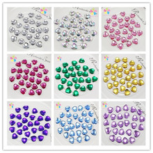 10mm Multi Colors Option Heart design Acryl rhinestone Art Rhinestones for DIY (50pcs/lot) 21010806(10D50)
