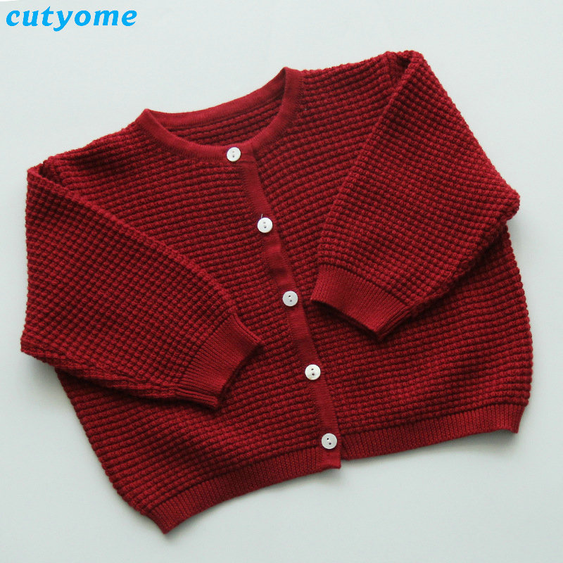 Cutyome Baby Boys Girls Cardigan Sweater Cotton Candy Color Long Sleeve Newborn Boys Clothes For Infant Knitted Outwear Sweaters (6)