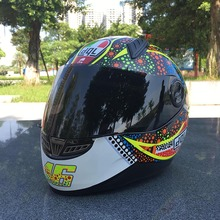 Factory offer cool motorcycle helmet good quality ABS material ladies and gentelman helmet casque(China)