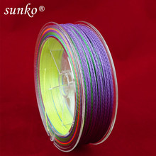 Enough 150M SUNKO Brand 8 10 20 30 40 50 60 70LB Super Strong Japanese colorful Multifilament PE Material Braided Fishing Line(China)