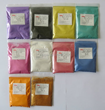 pearl pigment, pearlescent powder,pearl powder, color:Silver black,yellow,etc..1lot=10colors,20gram each color,free shipping.