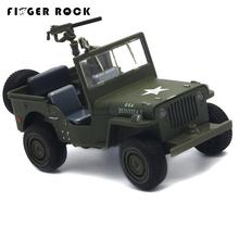 Willys Jeep 1:32 Scale Simulation Military Vehicle Model Pull Back Acousto-optic Alloy Toy Diecast Metal Car Brinquedo Menino(China)