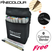 FINECOLOUR Double Headed Sketch Marker Pen Architecture Alcohol Based Art Copic Markers 36 48 60 72 Colors set Manga Drawing
