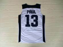 2012 Dream Team USA London Games basketball Jerseys Throwback Stitched 13 Chris Paul 15 Carmelo Anthony jersey(China)