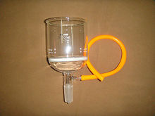 500ml,24/40,Glass Buchner Funnel,3# Coarse Filter Disk,Come with The Vacuum Tube