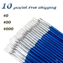 10Pcs/Set Fine Hand-painted Thin Hook Line Pen Drawing Art Pen #0 #00 #000 Paint Brush Art Supplies Nylon Brush Painting Pen