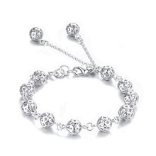 new arrive Beautiful bracelet noble top pretty fashion Wedding Party Silver cute fox lady nice Ball women bracelet jewelry(China)