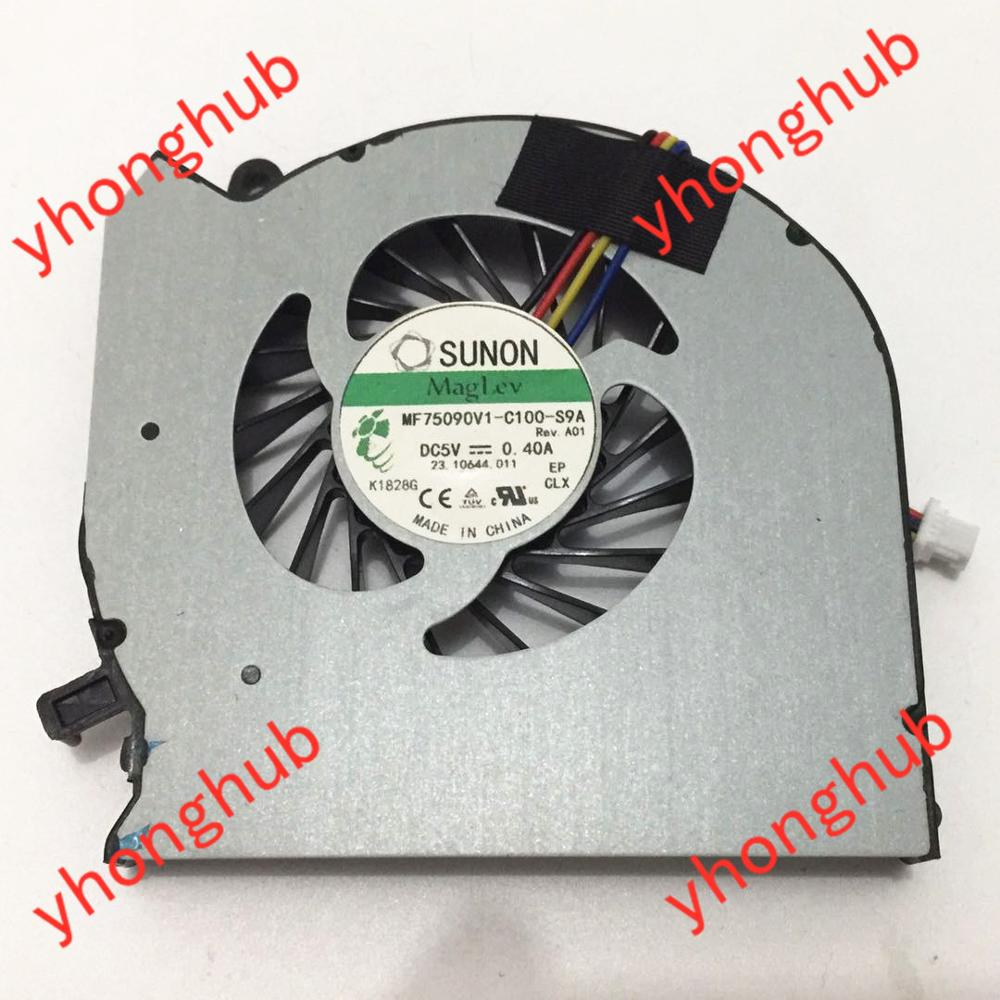 SUNON MF75090V1-C100-S9A 682061-001 682179-001 DC 5V 0.40A 4-Wire Server Laptop Fan