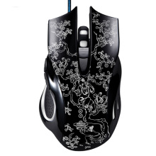 Professional Smooth 6 Buttons LED Optical Gaming Mouse Porcelain Pattern Cable Mice for PC Computer Laptop for lol Dota 2 Gamer