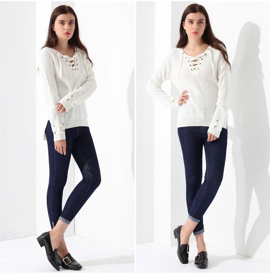 Women's Pullover Long Sleeve KnittedSweater 32