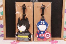 1pcs Doraemon Cosplay Batman Captain Bag Pendant Travel Name/luggage Tag Novelty toys(China)