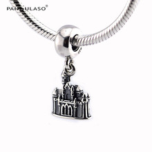Pandulaso Silver Pendants Princess Sleeping Beauty Castle Beads Fit Charms Bracelets & Bangles DIY Logo Beads for Jewelry Making