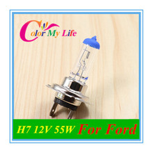 H7 12V 55W Cars Light Bulbs Halogen Car Light Bulb for Ford Focus 2 3 Fiesta Ecosport S-MAX Mondeo Kuga Escape accessories