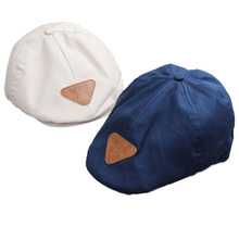 New Cotton Baby Beret Hats Pure Color Kids Boys Girls Beret Cap for 2-4 Years 1 PC(China)