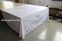 Free shipping 6' ,  four sided Table cloth, table cover, table throws with customs LOGO printing,