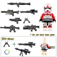 Red Storm Trooper #WM501 Clone Solider Single Sale Assemble Building Blocks Kids Education Learning Toys(China)
