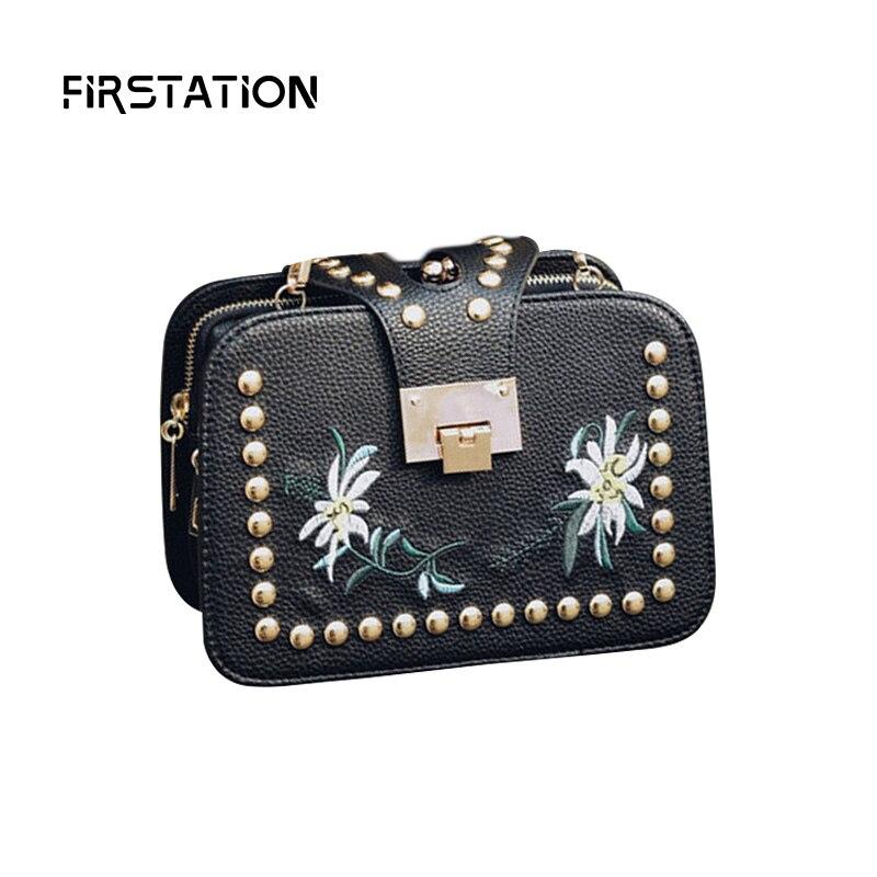 Vintage Rivet Women Shoulder Bags Crossbody Purse Chain Belt Print Flower Brand Luxury Messenger Bags Women Flap Bags Sac Wm0331<br><br>Aliexpress