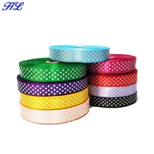 Sale 9 Rolls (450yards) 15mm Width Printed Dots Satin Wedding Party Decoration Crafts Making Ribbon Bows Diy Accessories A939