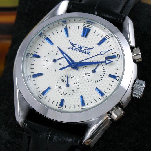 2014  JARAGAR  Fashion Blue Numbers Automatic Mechanical 6 Hand Mens Watch Wristwatch Gift<br><br>Aliexpress