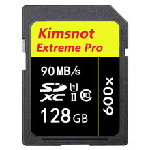 Kimsnot Extreme PRO SDXC128GB Card SDHC SD Card 16GB 32GB 64GB 256GB Flash Memory Card 600x Class 10 C10 90MB/s UHS-1 Wholesale
