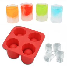 Hot New Bar Party Drink Ice Tray Cool Shape Ice Cube Freeze Mold Ice Maker Mould You can eat a cup 4-Cup Ice mold cup(China)