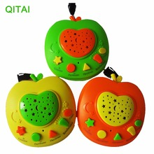 2017 Russian Apple Story Teller with LED Light Projection,Baby Russia Story Learning Machines,Children Educational Learning Toy(China)