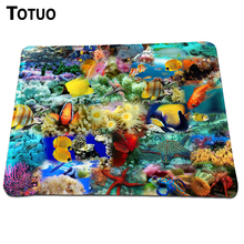 Hot Sell Animals Fishes Colorful Fish Photo DIY Printing Background Soft Silicone Desktop Pad Mousepads Optical Lock Edge Pad
