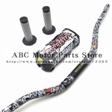 "Metal Mulisha Pack Fat Bar 1-1/8""PROTAPER Handlebar pads with Handle Grips Dirt Pit Bike Motocross Motorcycle CRF KLX KTM Black"