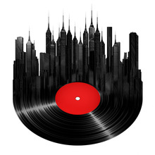 Music CD Poster Modern City View Art Print Picture For Living Room Home Decor Wall Painting Canvas Abstract Printing No Frame(China)