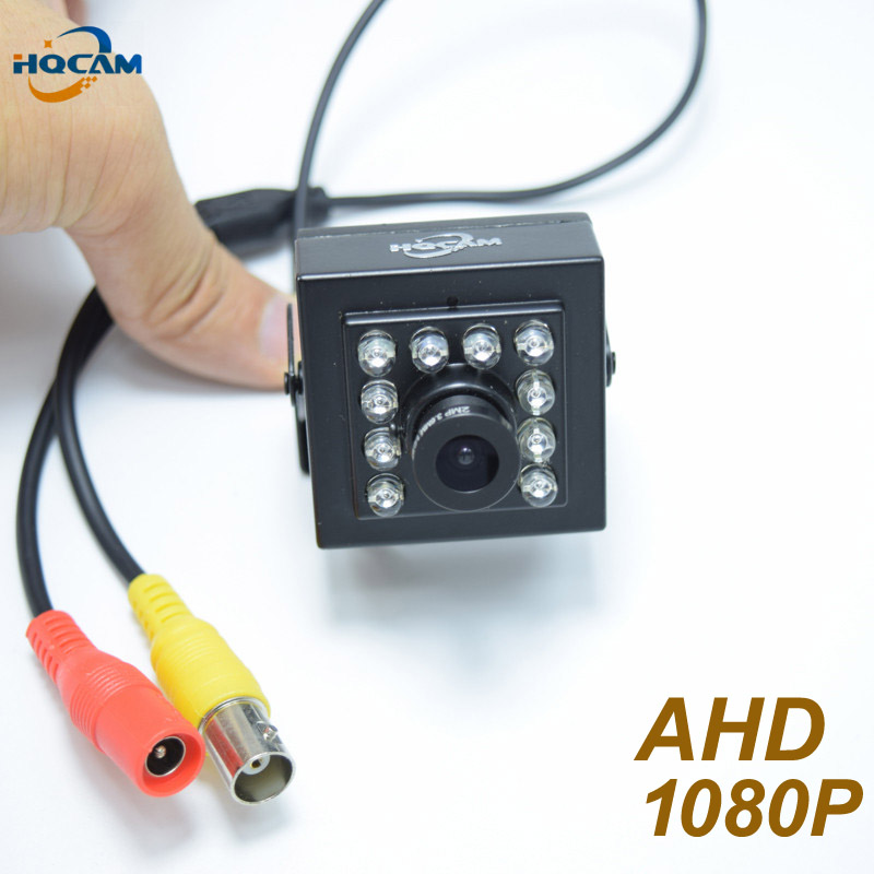 HQCAM 1080P Mini AHD camera 2000TVL Night Vision 10pcs IR 940nm Security Indoor Mini Camera ccd camera IR Cut Night vision cam<br>